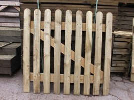 Round Top Picket Gate