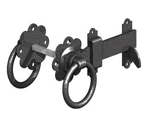 Ring Latch Black