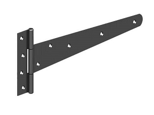 "12"" T Hinge Set Black"