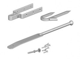 Spring Fastener and Staple Catch Galvanised