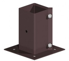 "Bolt Down Post Support to fit 3x3"" fence post"